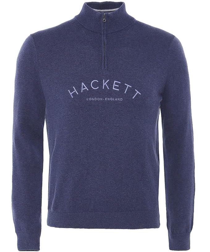Hackett Herren Half Zip Mr Classic Pullover Marine: Amazon