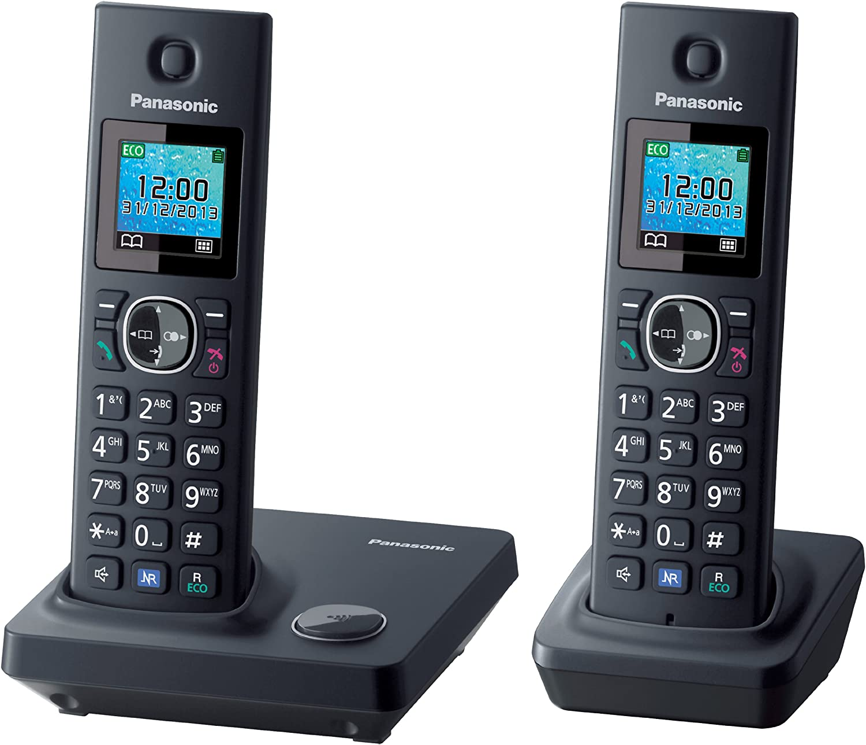 Panasonic KX-TG7852 - Teléfono fijo inalámbrico Dúo (LCD de 1.45