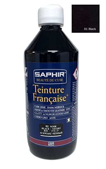 1ab2d99dda72 Amazon.com  Saphir Teinture Francaise Leather Dye 500ml (Black)  Shoes