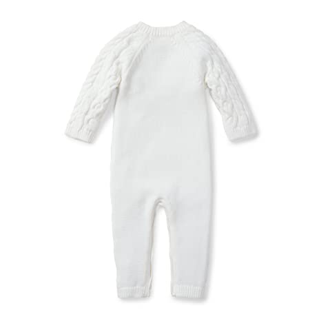 9aed9675301 Hope   Henry Layette Cable Knit Sweater Romper Made with Organic Cotton