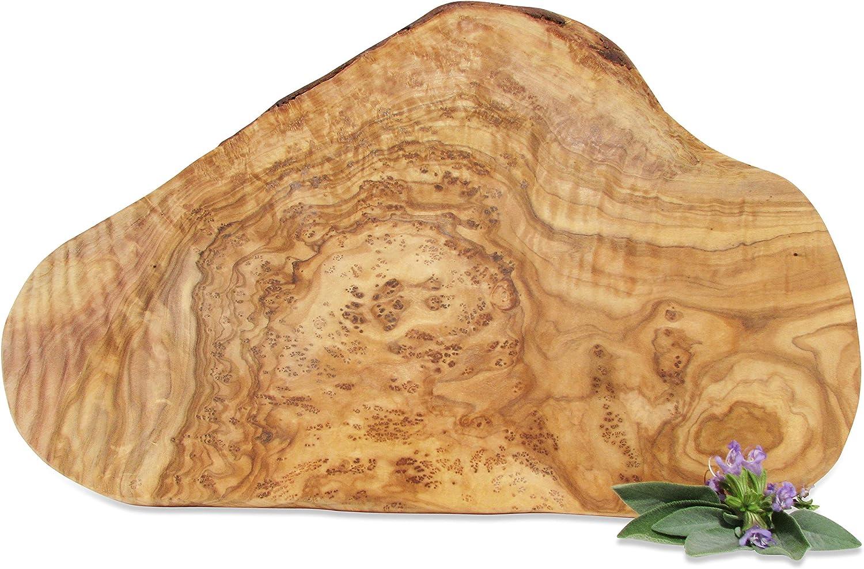 Schneidebrett Olivenholz Holzbrett Frühstücksbrett Brett Holz Vesperbrett 35cm