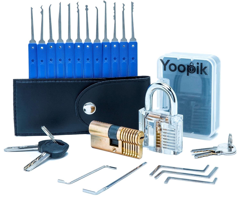 Yoopik Juego de Ganzúas con Cerraduras de Capacitación un Candado y Cerradura
