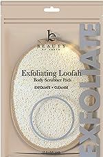 Exfoliating Loofah Sponge Body Scrubber - Pack of 2 Natural Loofah