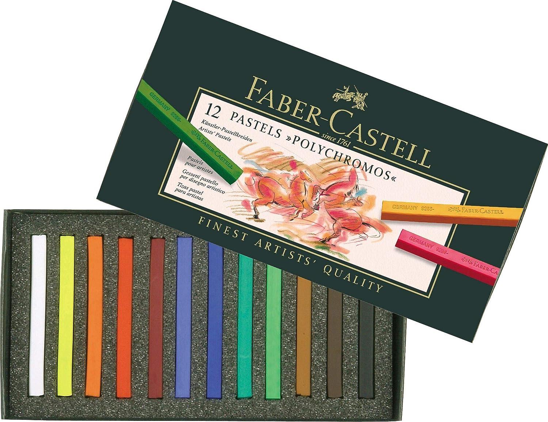Faber-Castell 128536 Craie pastel Polychromos secs bo/îte de 36