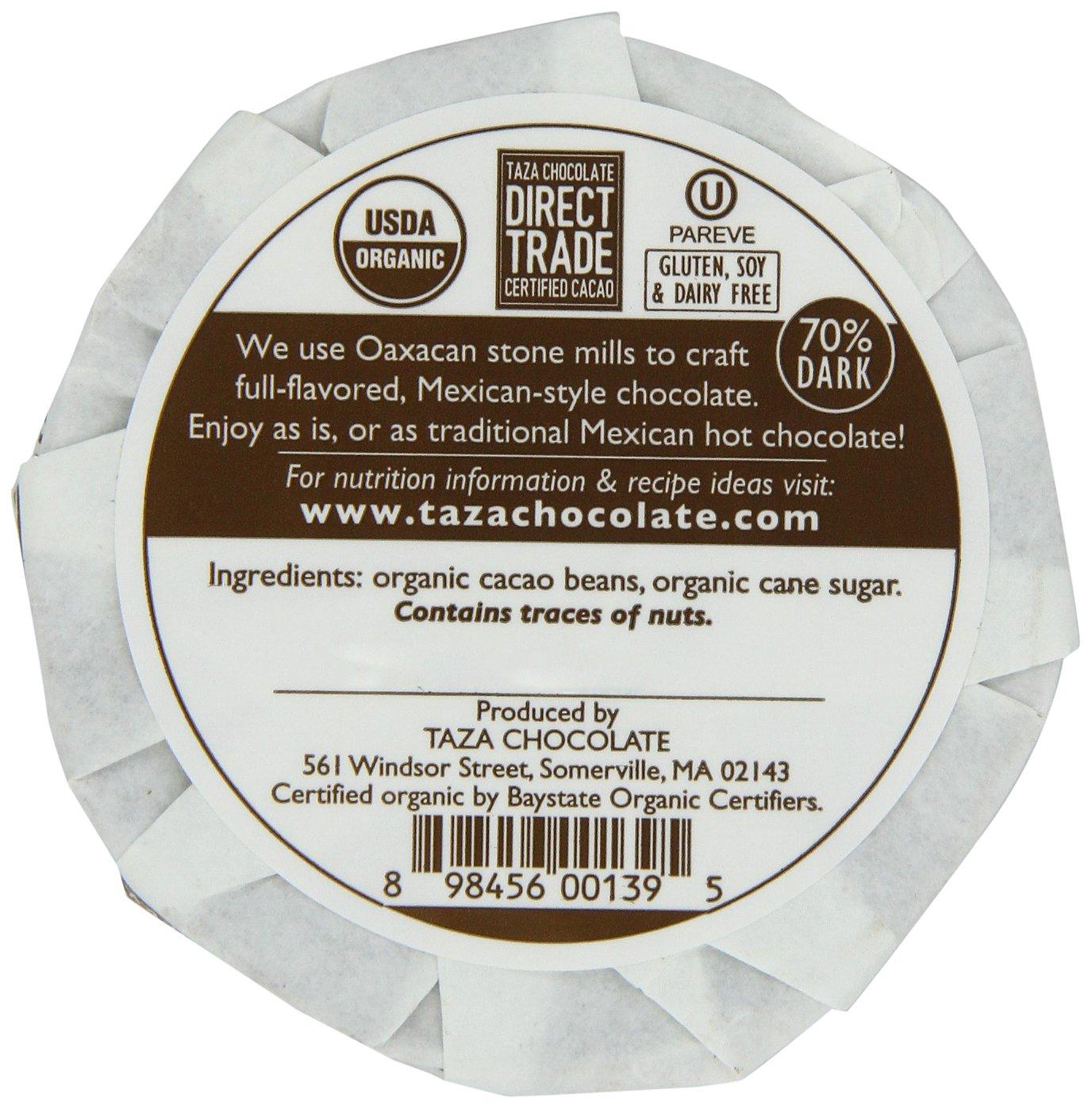 Amazon.com : Taza Chocolate Mexicano Chocolate Disc, Cacao Puro ...