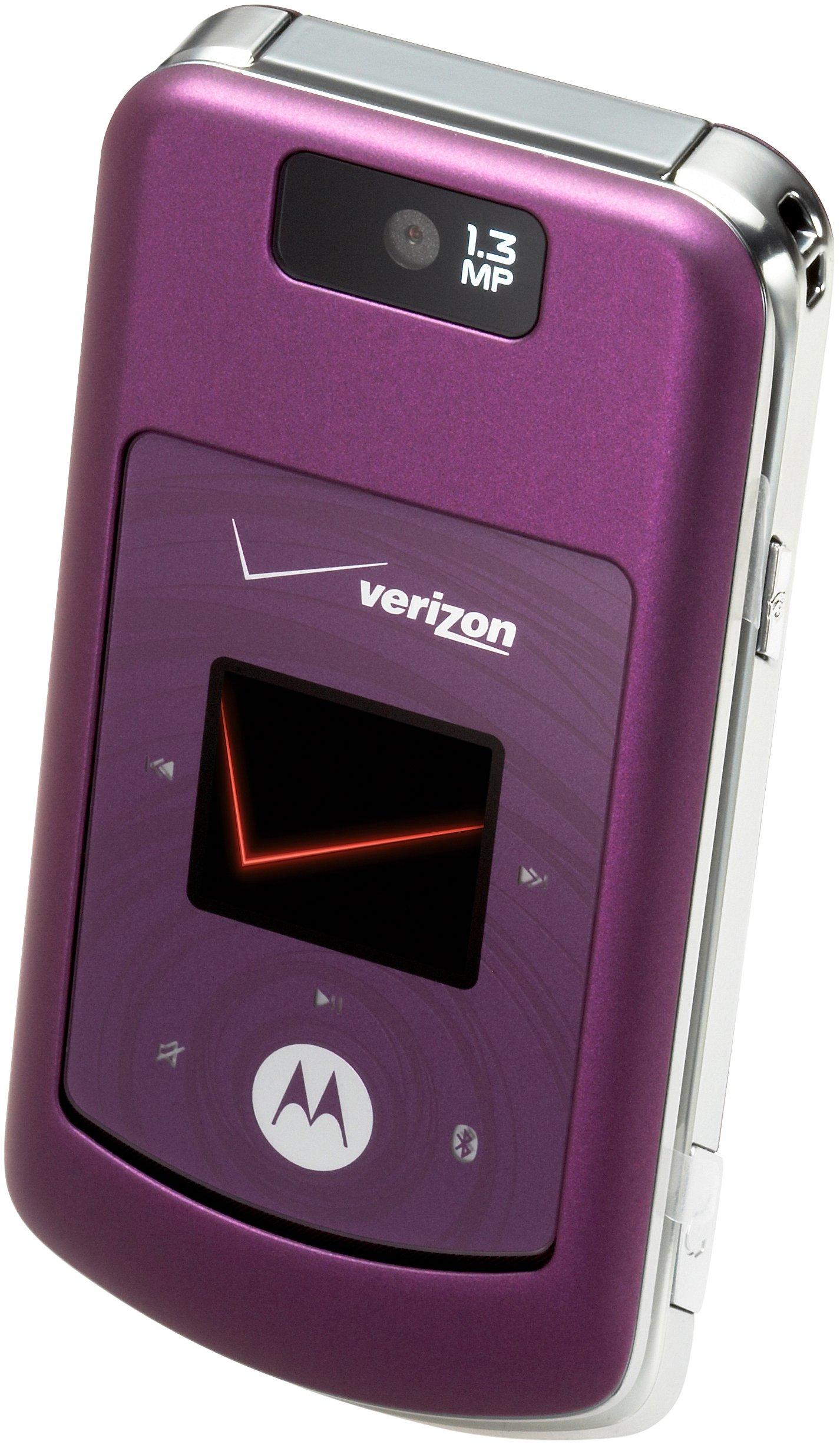 Motorola w755 Phone, Purple (Verizon Wireless)