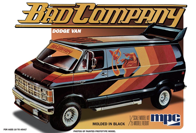 1/25 BAD COMPANY 1982 ダッジ・バン プラモデル