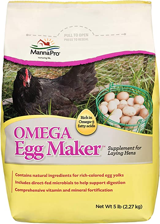 Manna Pro Omega Egg Maker   Formulated with Vitamins & Minerals   5 Pounds