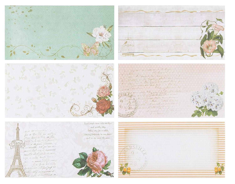 25,9 x 18,4 cm con buste da 21 x 10,9 cm Paper Junkie Confezione da 60 fogli di carta da cancelleria a tema floreale con 30 buste per stampante e scrittura a mano