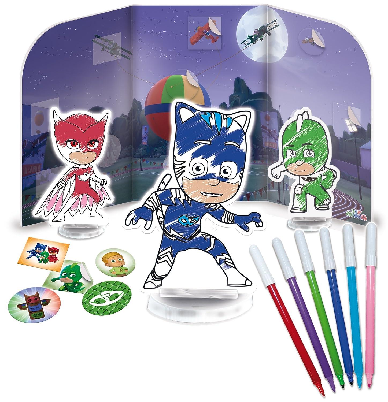 Lisciani Giochi 62911 - PJ Masks - Colorea y aprende: es Hora de ser un héroe: Amazon.es: Juguetes y juegos