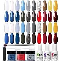Dip Powder Nail Starter Kit 20 Colors (Emancipation), Modelones Dip Nail Kit Starter French Nails with Dip Base Top Coat…