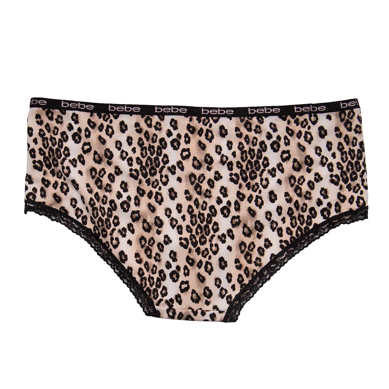 bebe Womens 3 Pack Micro Lace Trim Bikini Cut Panties