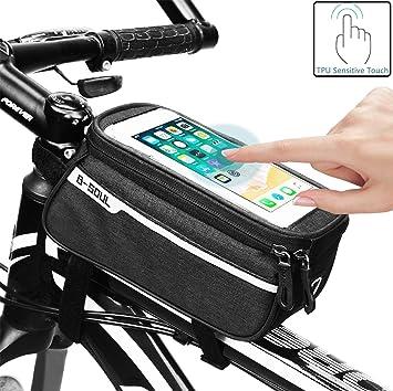 Bolsa de Bicicleta Con Pantalla Táctil Sensible, Bolsa de Marco de ...