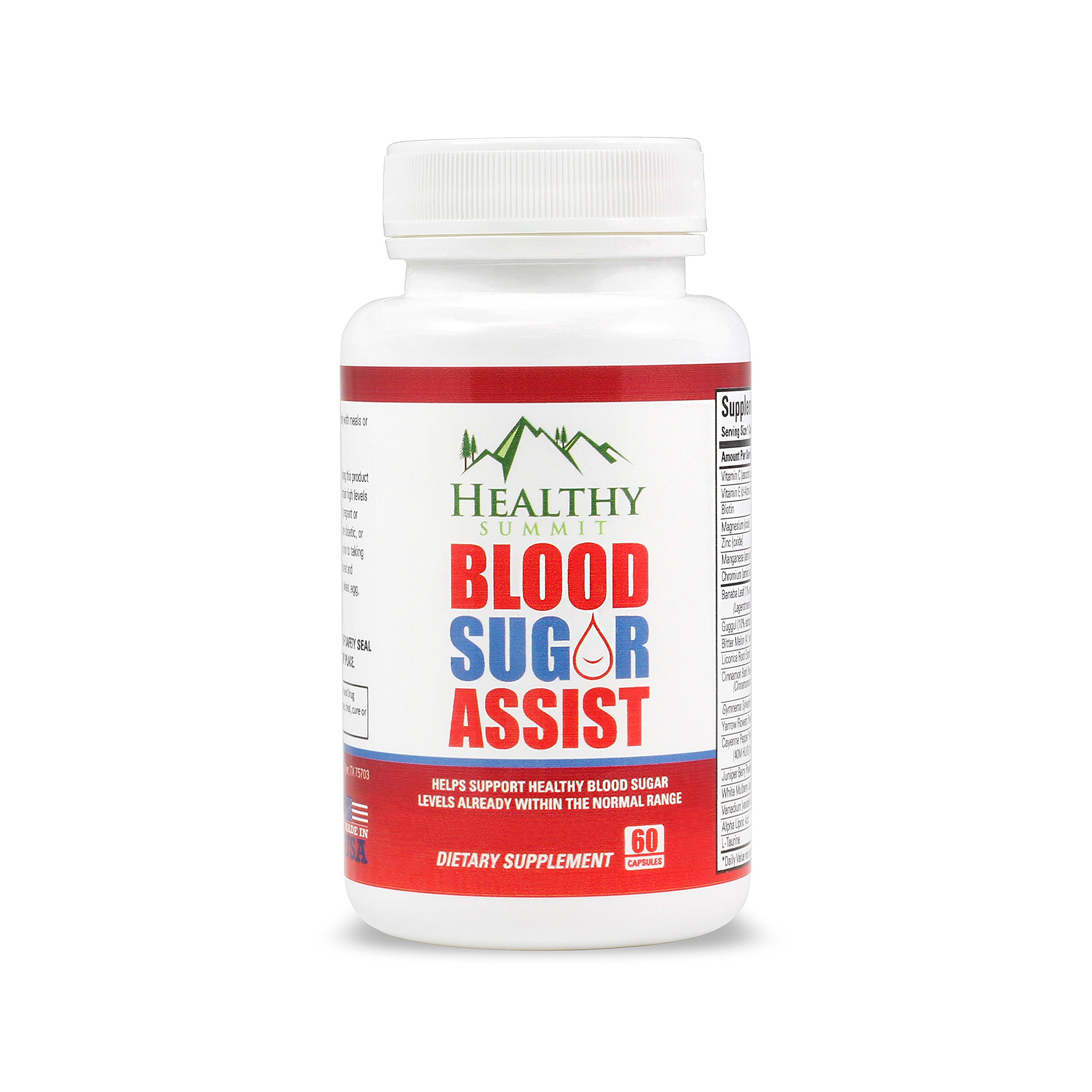 Healthy Summit Blood Sugar Support Supplement - Made with Gymnema, Cinnamon & Chromium - Helps Support Healthy Blood Glucose Levels