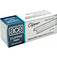 Advantus ACE Undulated Clipper Staples for 07020, Box of 5,000 Staples (ACE70001)