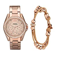 Women's Riley Stainless Steel Chronograph Glitz Quartz Watch