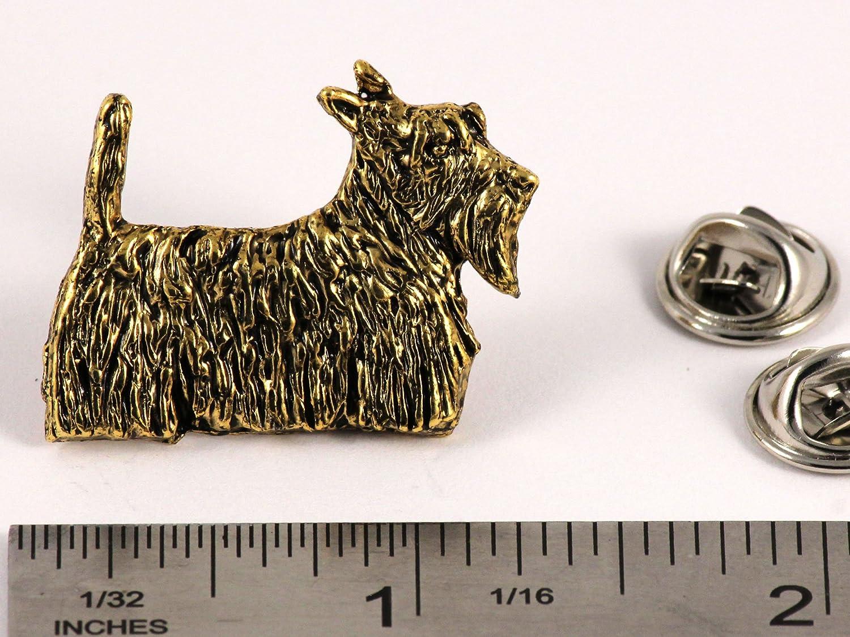 Scottie Dog Pewter Lapel Pin Brooch Jewelry D460F