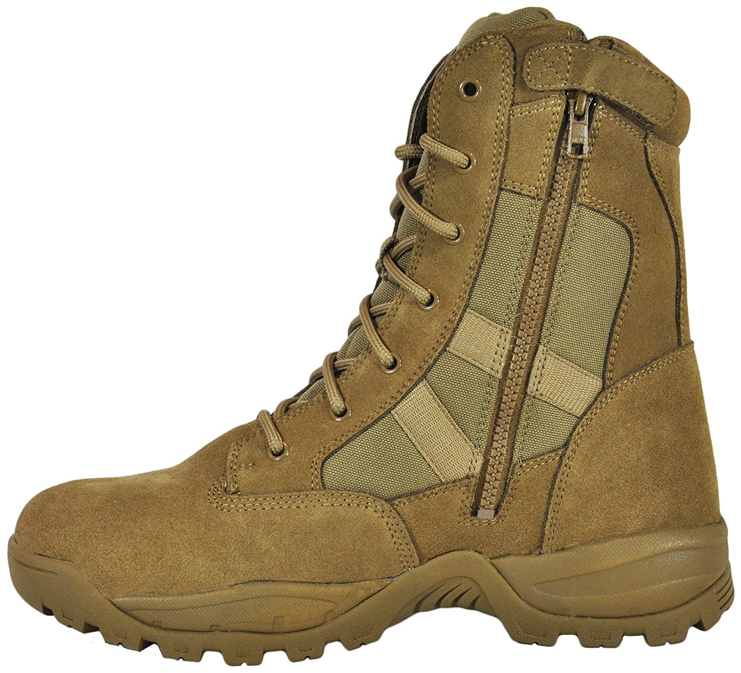 Smith & Wesson Footwear Men's Breach 2.0 Tactical Size Zip Boots, Coyote, 10W by Smith & Wesson (Image #2)