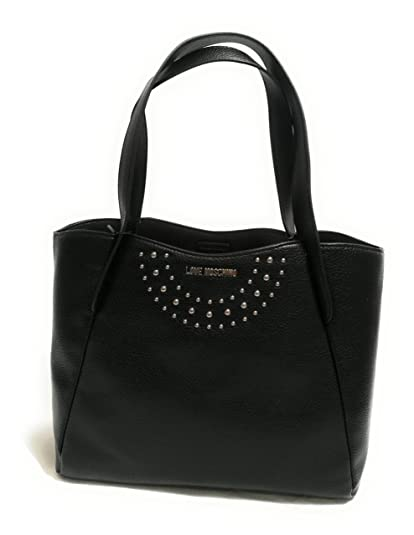 Love Moschino Bruno Black Shopper Tote Bag Black Leather  Amazon.co ... cd09e0f90c9
