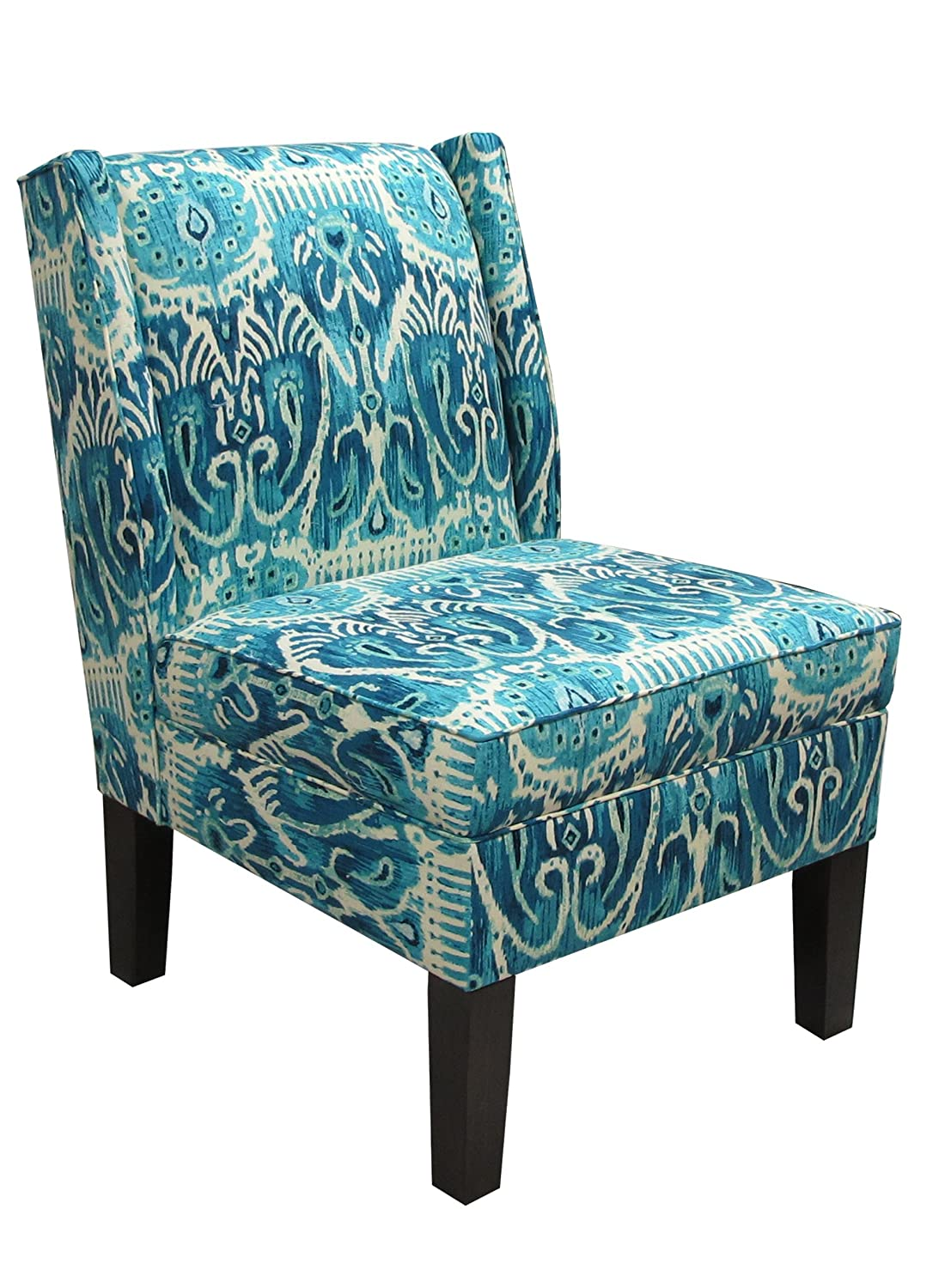 Amazon.com: Skyline Furniture Wingback Chair In Alessandra Teal: Kitchen U0026  Dining
