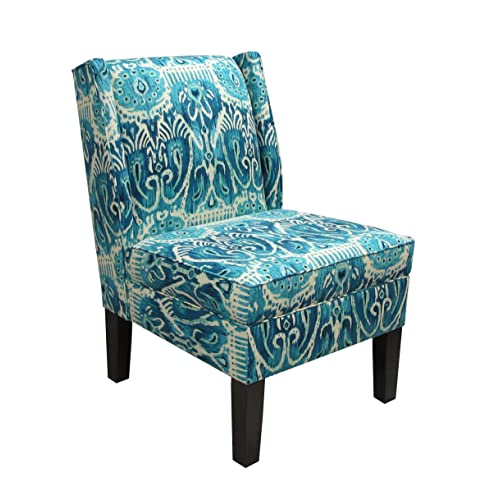 Dark Turquoise High Accent Chair: Turquoise Accent Chair: Amazon.com