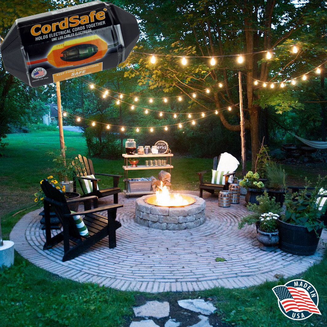 3 PK Black Extension Cord Safety Cover with Water-Resistant Seal