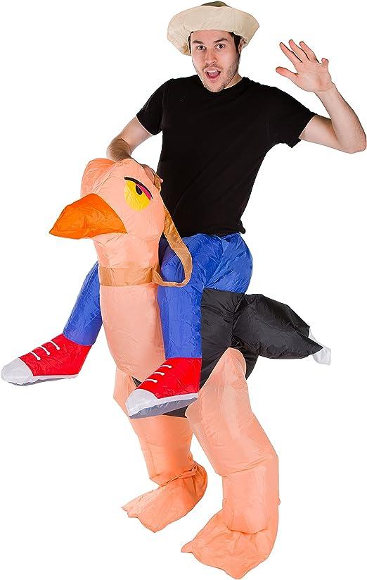 Bodysocks Adult Inflatable Ostrich Fancy Dress Costume