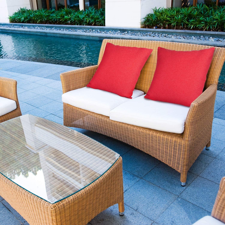Aneco balcone e divano per patio divano tenda Set di 4 federe decorative per cuscini da giardino
