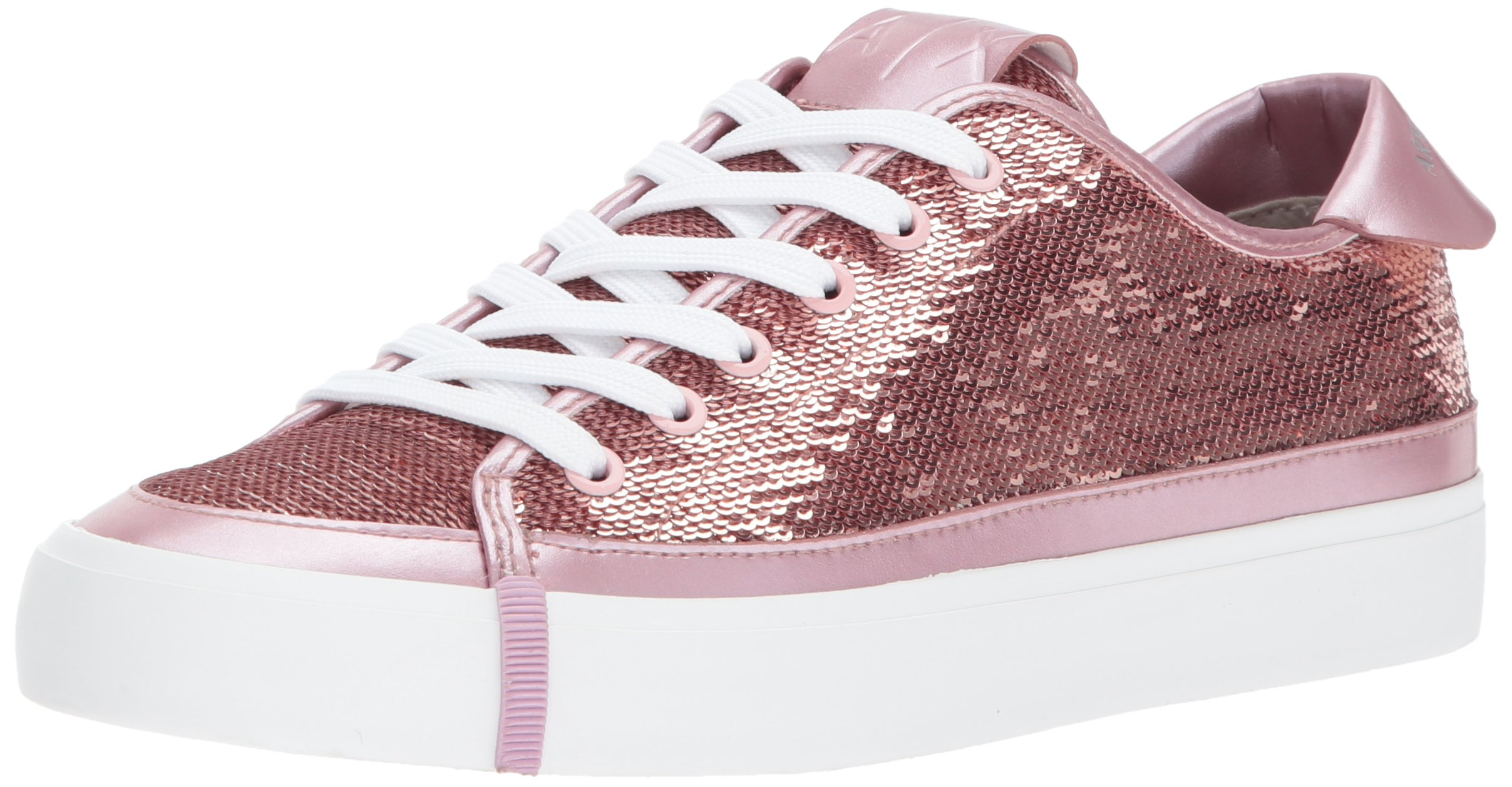 A|X Armani Exchange Women's Sequined Low Top Sneaker, Blossom, 5 M US