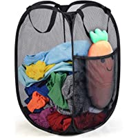 Reinforced Mesh Pop-Up Laundry Hamper, Portable Durable Handles, Collapsible for Storage and Easy to Open, Folding Pop…