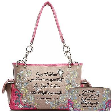 Amazon.com: Bordado floral de versículo de la Biblia las ...