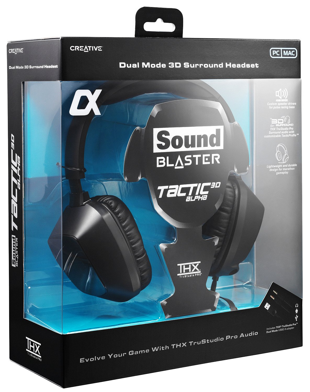Creative Sound Blaster Tactic Alpha Headset with THX TruStudio Pro ...