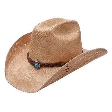 1f3b8f42b7a Stetson Flatrock - Shapeable Straw Cowboy Hat at Amazon Men s ...