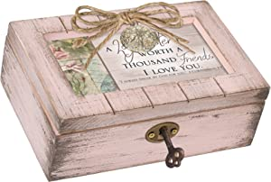 Cottage Garden Sister Worth Thousand Friends Blush Pink Locket Petite Music Box Plays Amazing Grace