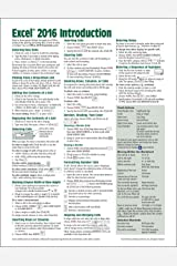 Microsoft Excel 2016 Introduction Quick Reference Guide - Windows Version (Cheat Sheet of Instructions, Tips & Shortcuts - Laminated Card) Pamphlet