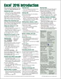 Microsoft Excel 2016 Introduction Quick Reference Guide - Windows Version (Cheat Sheet of Instructions, Tips & Shortcuts - Laminated Card)