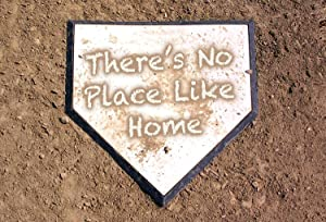 There's No Place Like Home Dirty Home Plate Baseball Flat Doormat