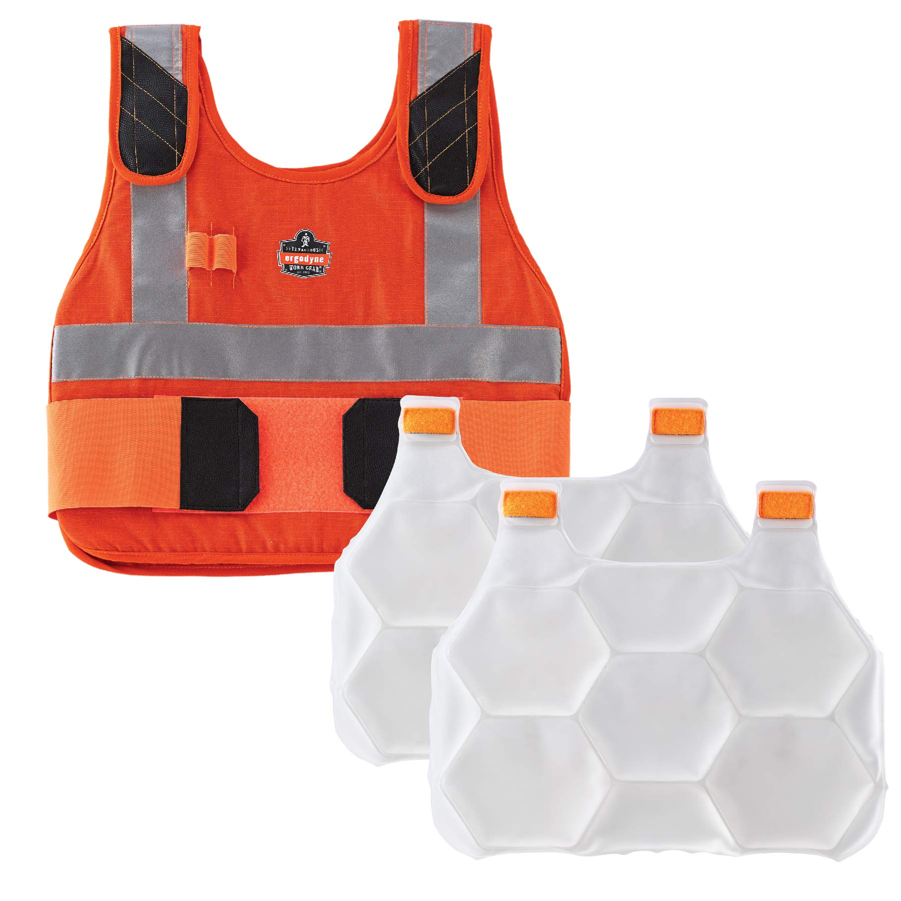 Ergodyne Chill-Its 6215 Fire Resistant/Rated High Visibility Cooling Vest, L/XL, Orange by Ergodyne (Image #1)