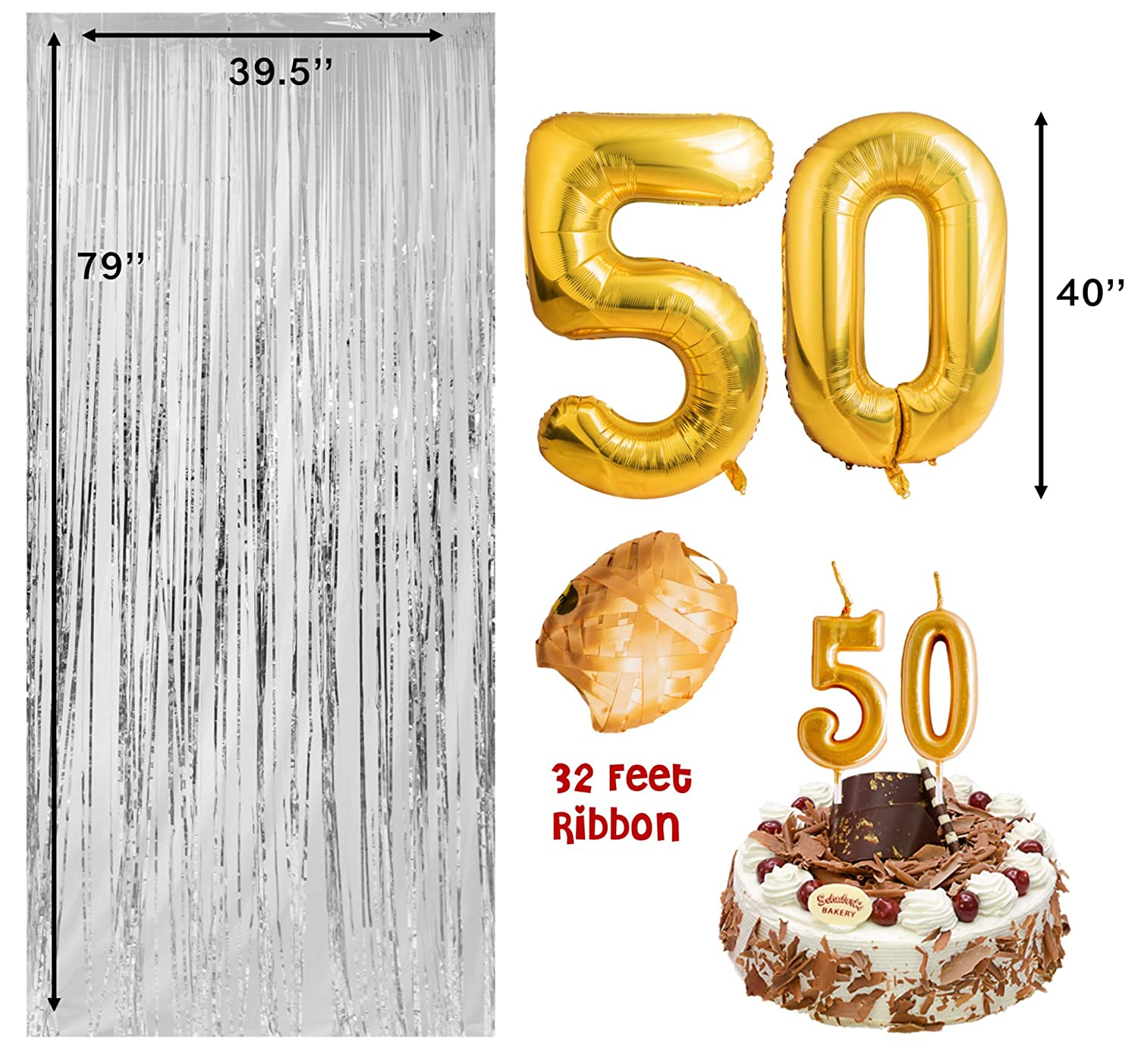 Amazon 50th Birthday Decorations