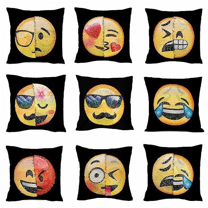 Proco® Sequin Almohada   Emoji suquin Almohada con Cambio ...