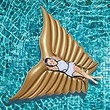 Jasonwell Riesiger aufblasbarer Engels Flügel Pool Wasser Luftmatratze schwimmen schwimmtier Floß Aufblasbar Schwebebett Wasserspielzeug Sommer schwimminsel Strand Party Spielzeug Kinder Erwachsene
