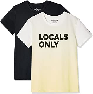 ded2f5c18 Kid Nation Kids' 2 Pack Crew Neck Solid and Graphic T-Shirts for Boys