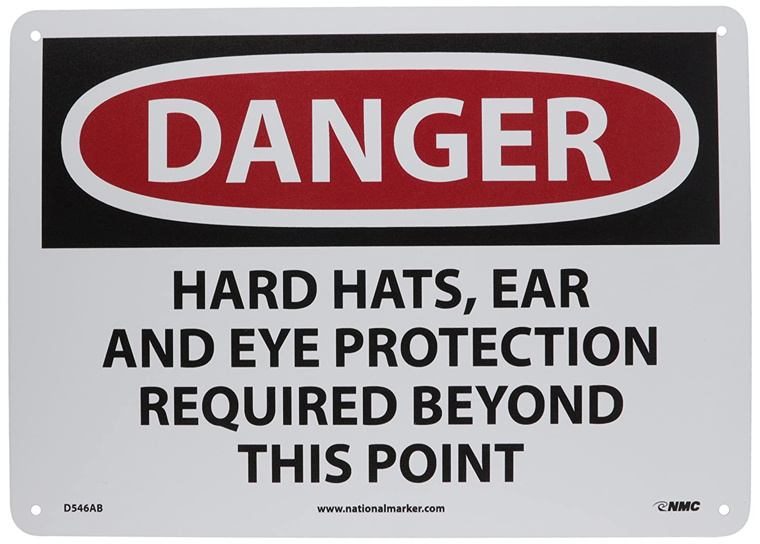 OSHA Danger Hard Hat Protection Required BilingualHeavy Duty Sign or Label