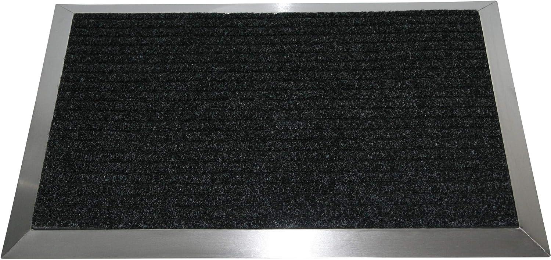Marke: Szagato Schmutzfangmatte, Fu/ßabtreter, Schmutzmatte Edelstahlrahmen mit Polypropylen-Fu/ßmatte 110x60 cm