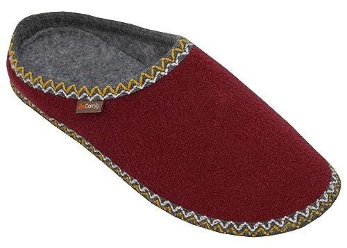 BeComfy Zapatillas de Fieltro Hombre Mujer con Suela ...