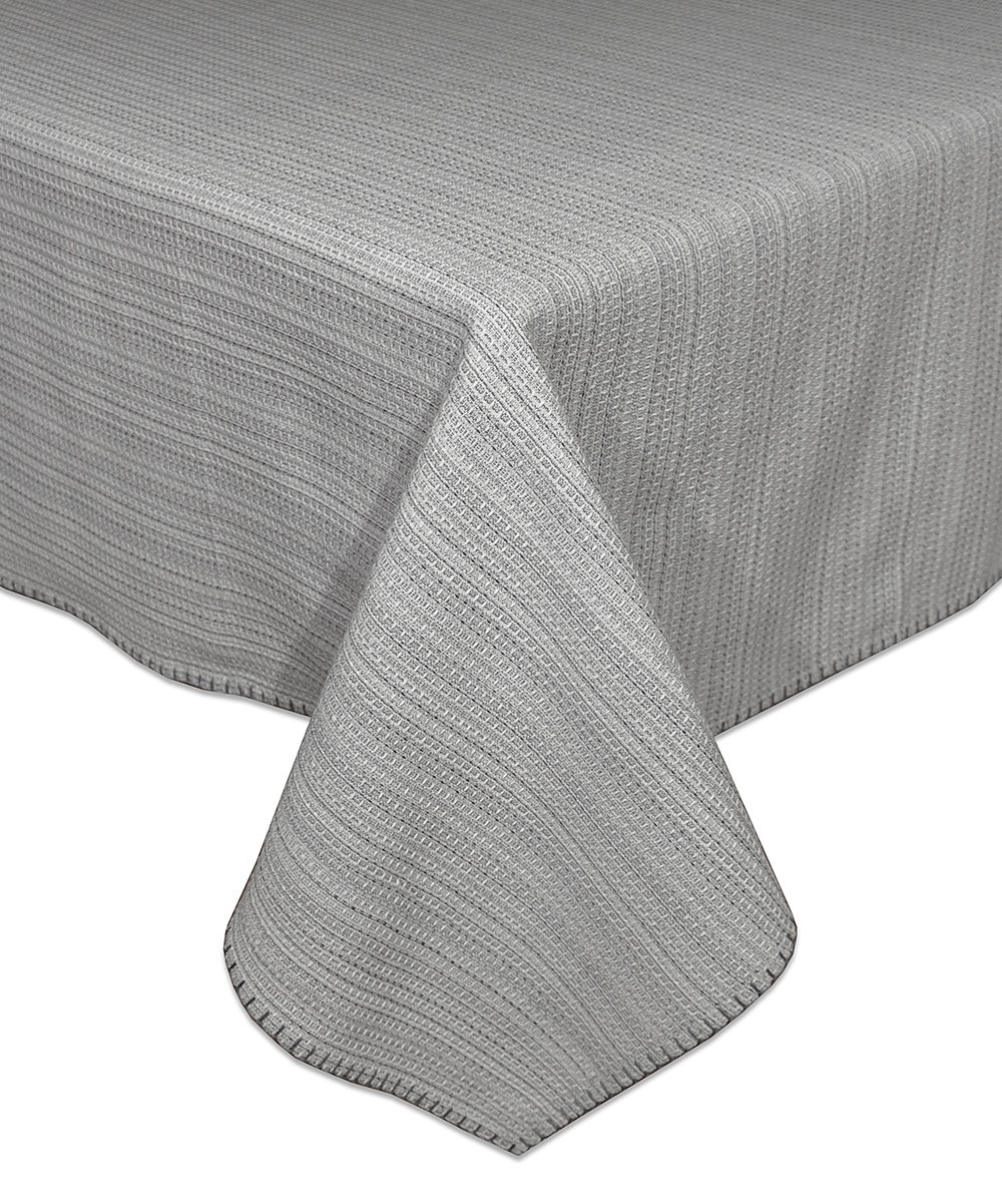 "HomeCrate Elegant Lyon Collection Woven Tablecloth, 60"" X 120"" - In Gray -  - tablecloths, kitchen-dining-room-table-linens, kitchen-dining-room - 81m7fWlaz7L -"