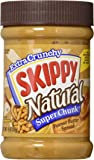 Skippy Peanut Butter, Natural Super Chunk, 15-Ounce Jars (Pack of 6)