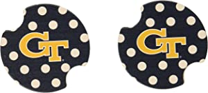 Thirstystone Thirstystone Georgia Institute of Technology Dots Car Cupholder Coaster, 2-Pack