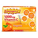 Emergen-C Dietary Supplement Drink Mix with 1000 mg Vitamin C, 0.33 Ounce Packets, Caffeine Free (Tangerine Flavor, 30 Count)