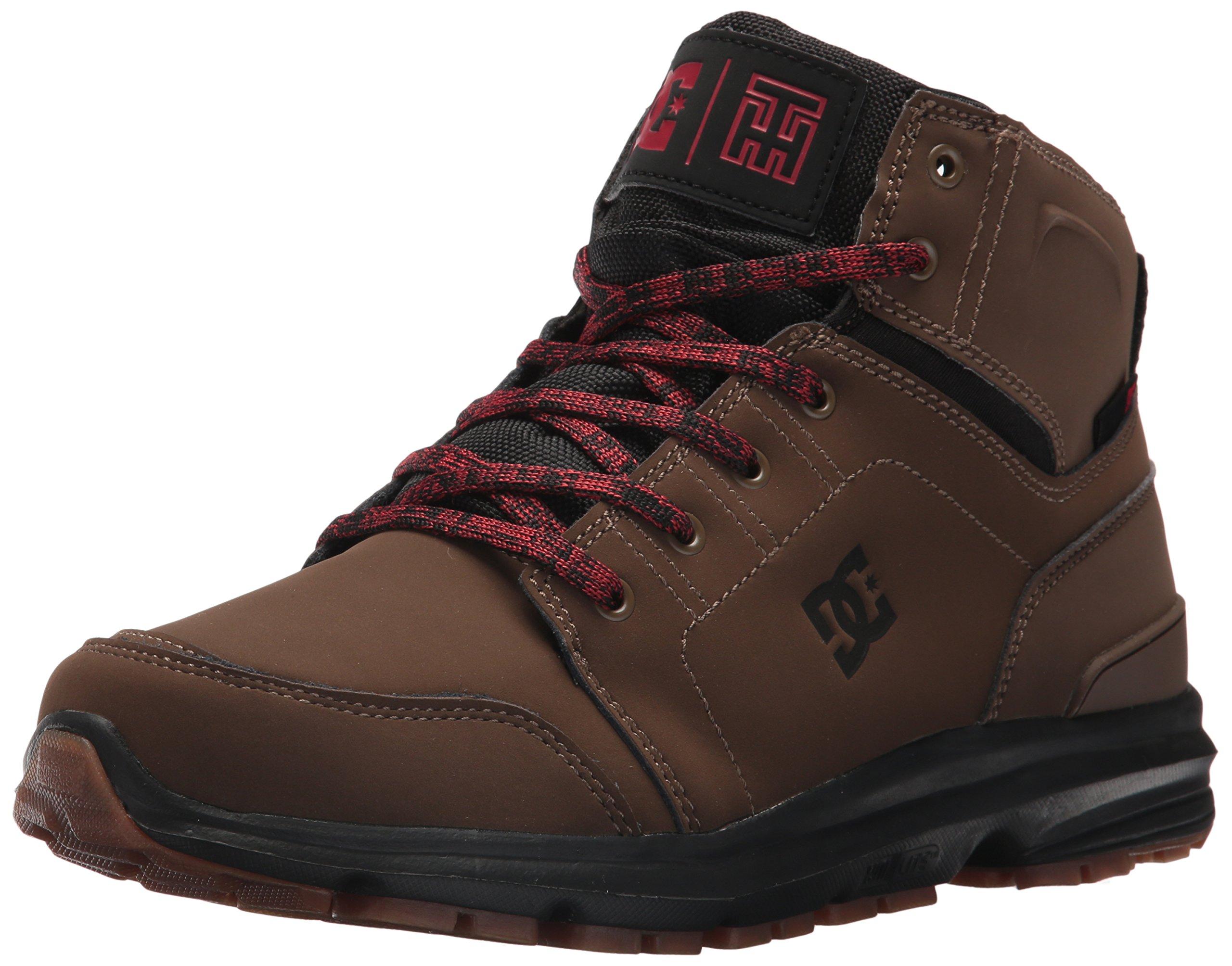 DC Men's Torstein Ankle Boot, Dark Chocolate, 11 D D US